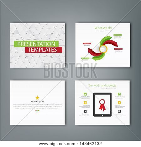 Set of infographic Presentation Template , Infographic Element , Business infographic , Layout design , Modern Style , Vector design illustration.