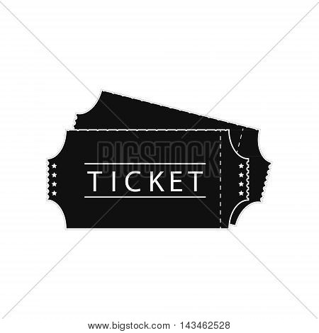 Vector illustration ticket icon on white background. Cinema ticket