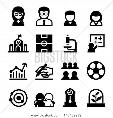 School icon set Vector illustration graphic design