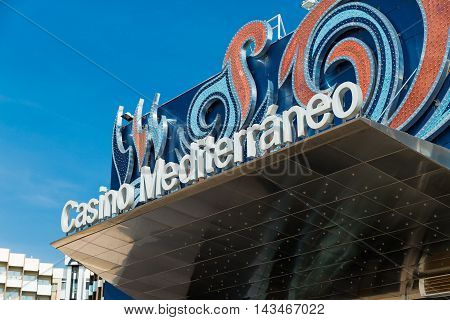 Alicante, Spain - SEPTEMBER 2015: Entrance to Casino near Port