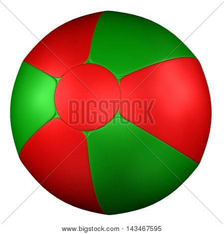 Beach Ball isolated on white background. 3D rendering.