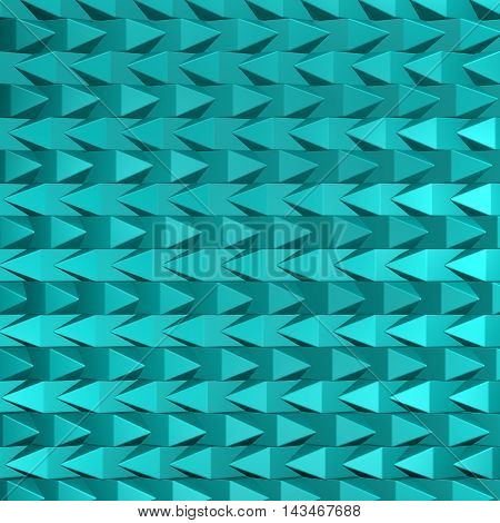 Turquoise abstarct background. Full frame.  3D rendering.