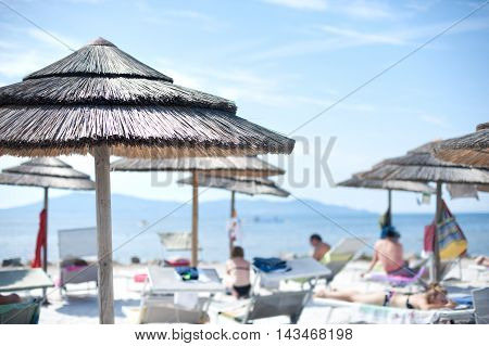 Beach Resort Under Summer Blue Sky