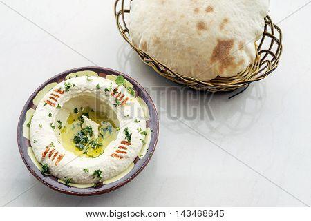 middle eastern hummus houmous chickpea dip meze mezze starter snack food set