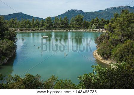 Beautiful Beletsi Lake In Attika, Greece