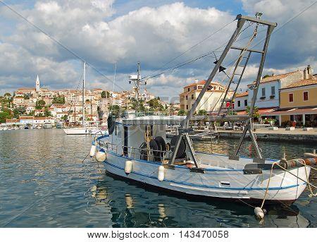 Harbor of Vrsar at adriatic Sea in Istria,Croatia