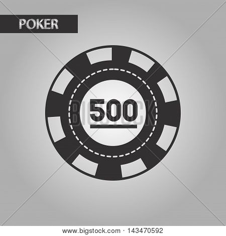 black and white style single poker chips