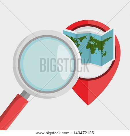 search pin travel location vector illustration design