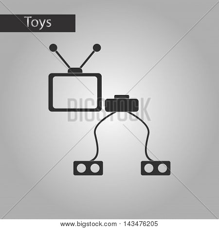 black and white style Kids toy TV game console
