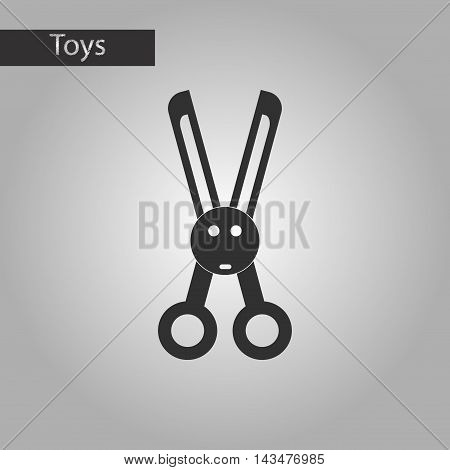 black and white style Kids toy scissors