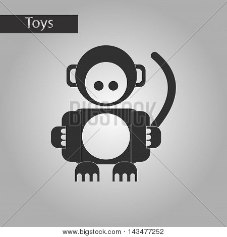 black and white style Kids toy monkey