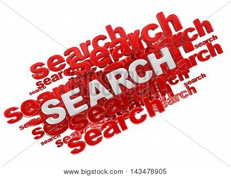 3d Illustration. Word search. Image with clipping path
