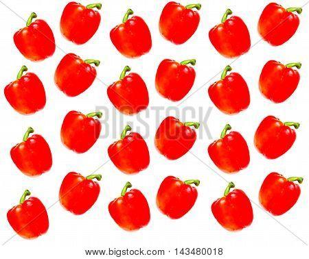 Bulgarian pepper on a white background vegetable color red taste appetite salad sweet fetus wallpaper use