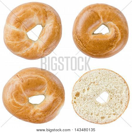 Bagels Isolated On White