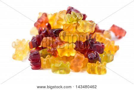 Gummy Bears Isolated On White