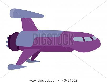 UFO spaceship vector isolated