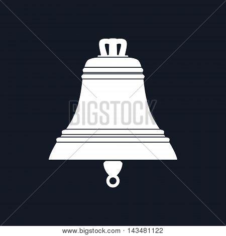 Marine Bell Isolated on Black Background,Ship Equipment ,Vector Illustration