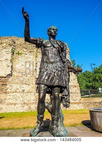 Trajan Statue In London Hdr