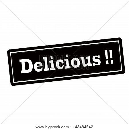 Rubber stamp with word delicious inside vector illustration