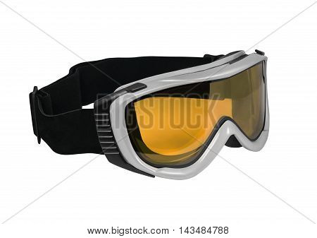 Side view of ski or snowboard goggle isolated on white background