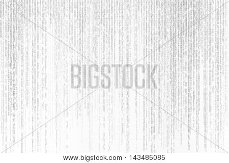 illustration black and white matrix background with symbols motion blur technology concept.