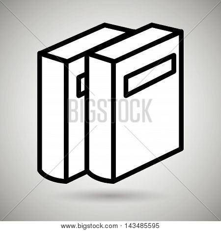 book literature library icon vector illustration design