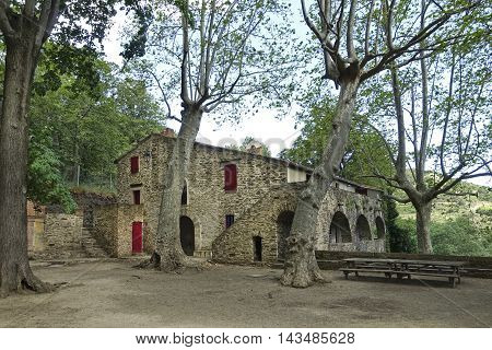 Collioure France - June 14 2016: Hermitage of Our Lady of Consolation in Collioure is located in the Pyrenees Orientales.