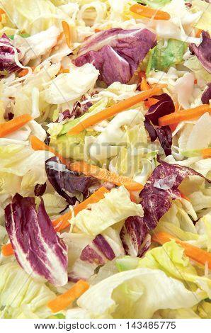 Green Salad isolated fresh vegetable healthy raw food