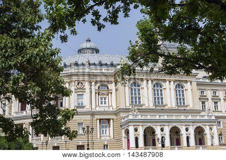 Odessa, Ukraine - August 02, 2016:the Odessa National Academic Theater Of Opera And Ballet In Ukrain