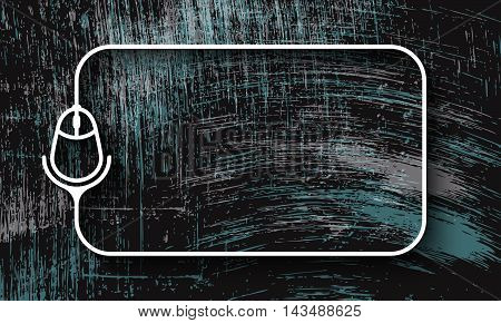 Vector abstract scratched background and white a text box with mouse