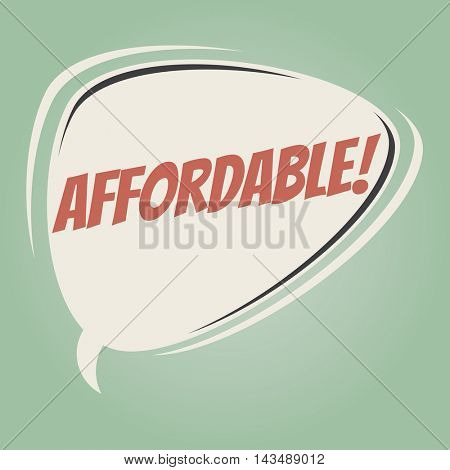 affordable retro speech balloon