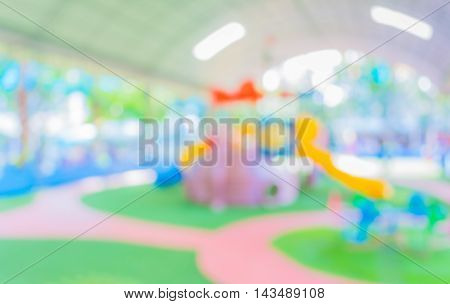 Blur Image Of Children's Playground .