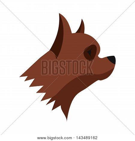 Pinscher dog icon in flat style isolated on white background. Animals symbol