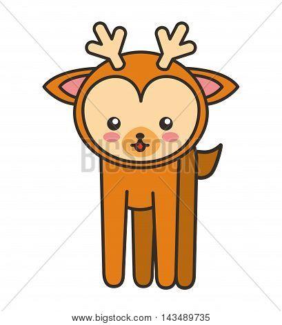 cute deer animal tender isolated icon vector illustration design