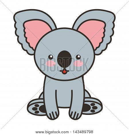 cute koala animal tender isolated icon vector illustration design