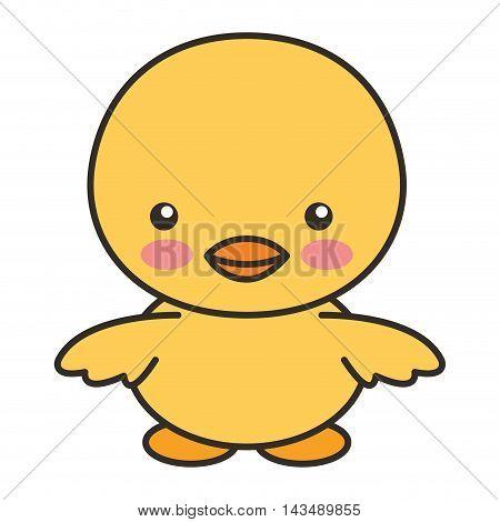 cute chicken animal tender isolated icon vector illustration design