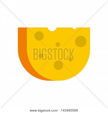 Cheese icon in flat style isolated on white background. Food symbol