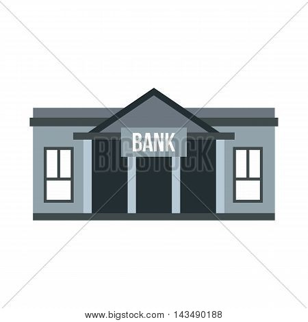 Bank icon in flat style isolated on white background. Finance and safety symbol
