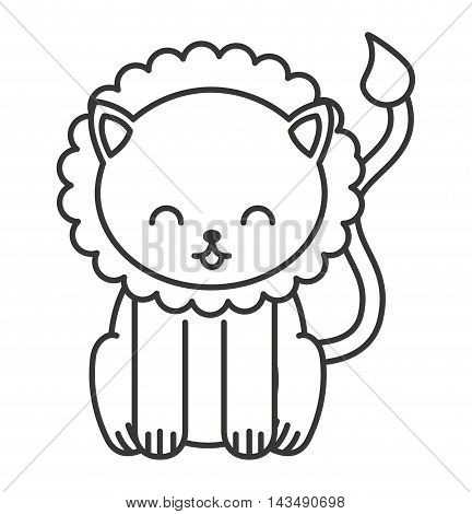cute animal tender isolated icon vector illustration design