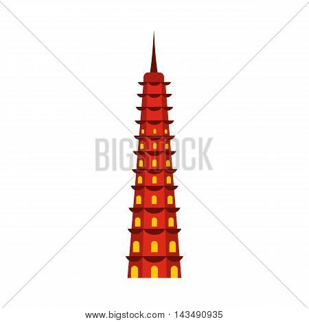 Temple icon in flat style isolated on white background. Monuments and buildings symbol