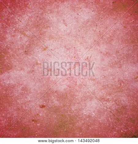abstract colored scratched grunge background - pale red