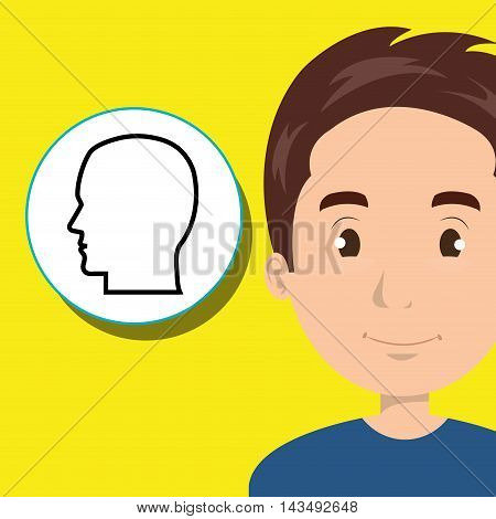 boy young student school vector illustration design