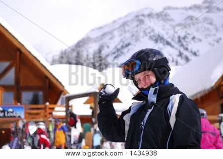 Girl Ski Resort
