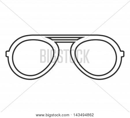 fashion glasses isolated icon vector illustration design