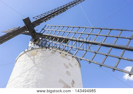 Travel, windmills of Consuegra in Toledo, Spain. They served to grind grain crop fields