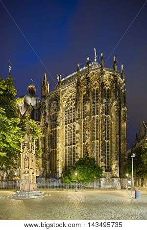 Aachen Cathedral Choir At Night