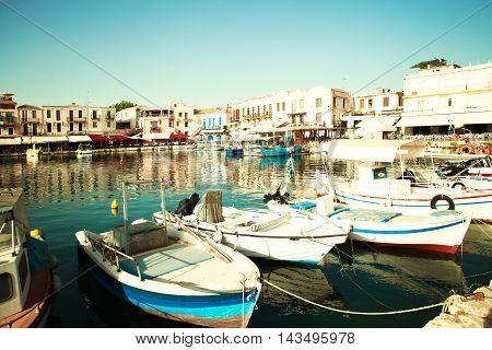 Rethymnon Port. City Center. Greece Crete. Impression of Greece