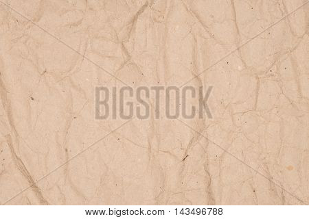 Vintage crumpled paper light texture. Abstract background, empty template.
