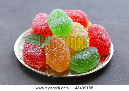 bright colored homemade , fruit jujube marmalade