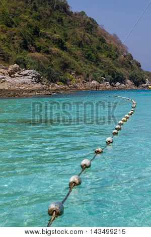 Buoy In Swimming Area Of Lake background sea